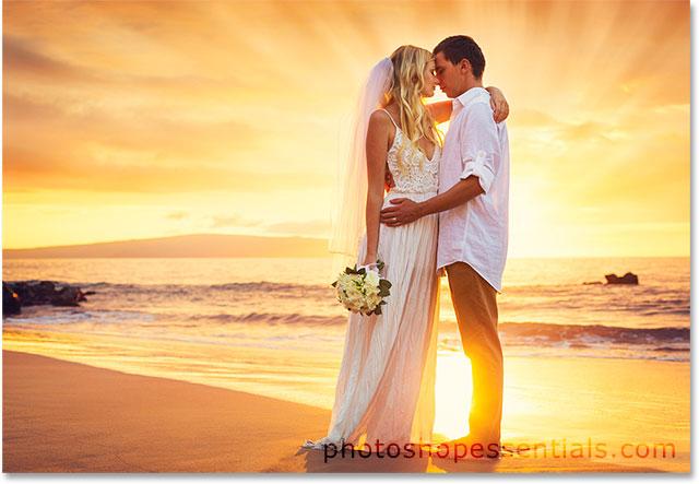 Добавление лучей солнечного света к изображению с помощью Photoshop.