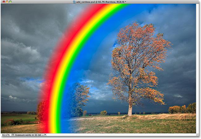 Photoshop Радужный градиент.