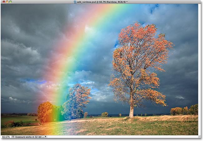 Изображение после размытия радуги.
