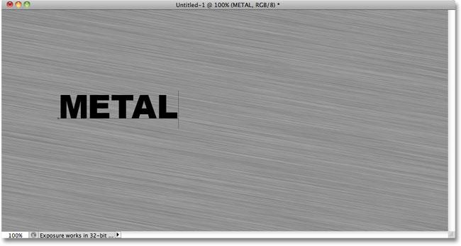 Добавление текста в документ Photoshop.  Image © 2010 Photoshop Essentials.com.