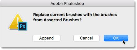 Замена предыдущего набора кистей набором Assorted Brushes.