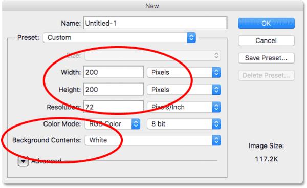Диалоговое окно «Новый документ» в Photoshop CS6.