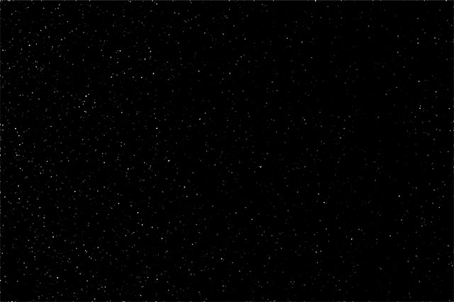Эффект звездочек после настройки ползунка черной точки в уровнях.