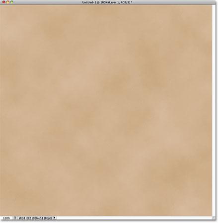 Документ Photoshop, режим наложения, непрозрачность 15%.