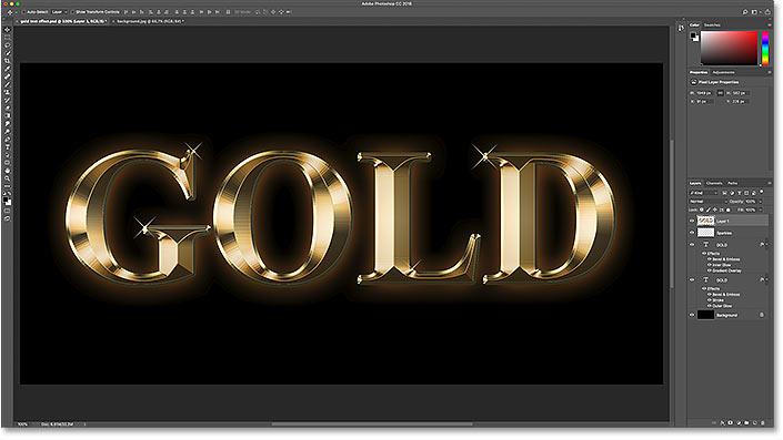 Восстановление исходного фона за текстовым эффектом в Photoshop