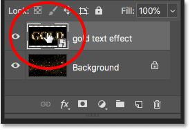 Открытие смарт-объекта для просмотра документа с текстовыми эффектами в Photoshop