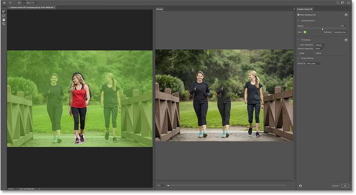 Новая область задач Content-Aware Fill в Photoshop CC 2019.