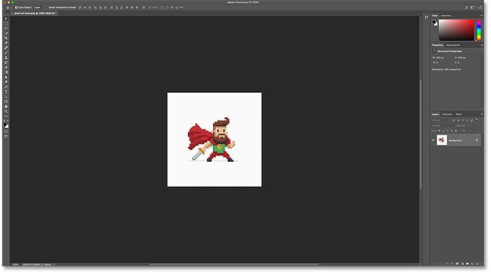 Пиксель арт открывается в фотошопе в оригинальном размере
