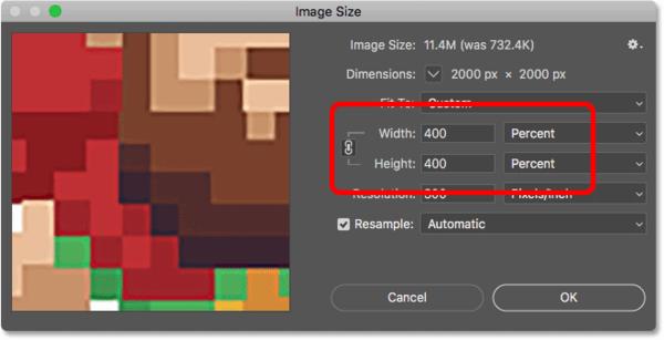 Упрощение пиксельной графики в Photoshop на 400 процентов
