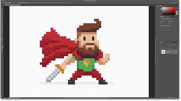 Как увеличить и увеличить пиксель-арт в Photoshop