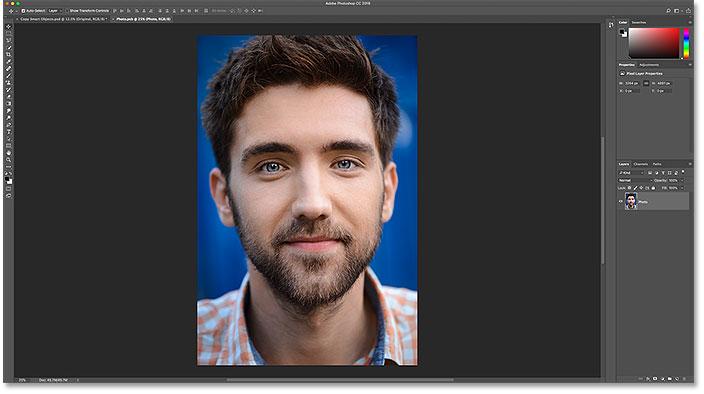 Содержимое оригинального смарт-объекта открывается в отдельном документе Photoshop