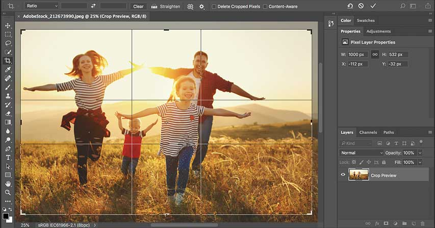 Как обрезать фотографии в Photoshop CC - Полное руководство