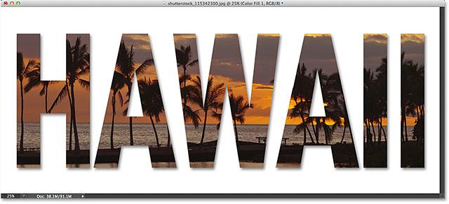 Размещение изображения внутри текста с помощью Photoshop CS6 и Photoshop CC (Creative Cloud).