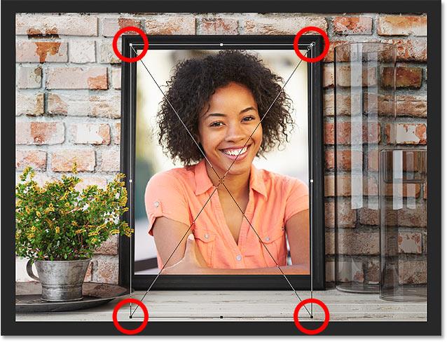 Изменение размера и расположение смарт-объекта внутри маски слоя в Photoshop