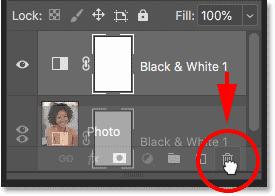 Удаление черно-белого корректирующего слоя в смарт-объекте