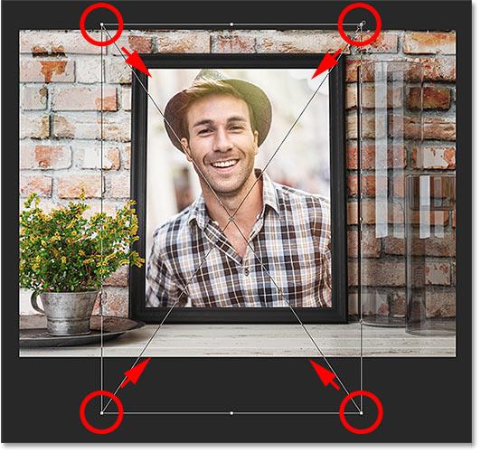 Изменение размера изображения после замены содержимого смарт-объекта
