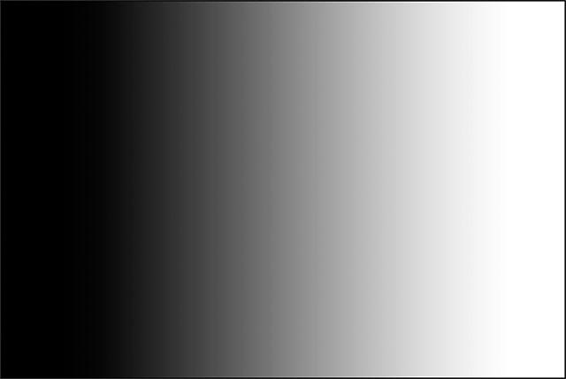 Черно-белый градиент, нарисованный с помощью Gradient Tool.