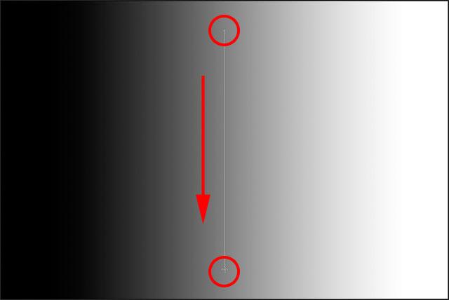Нажмите и перетащите вертикальный градиент сверху вниз.