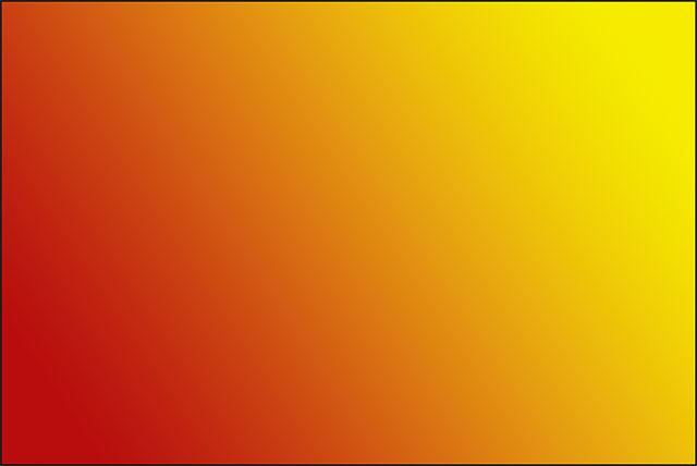 Новый градиент от красного к желтому, нарисованный с помощью Gradient Tool.