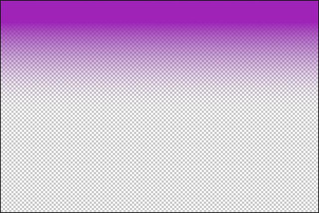 Градиент от фиолетового до прозрачного.