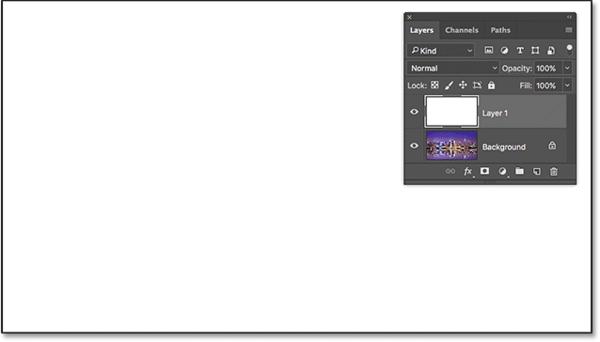Photoshop Прозрачный текстовый эффект после заполнения слоя белым