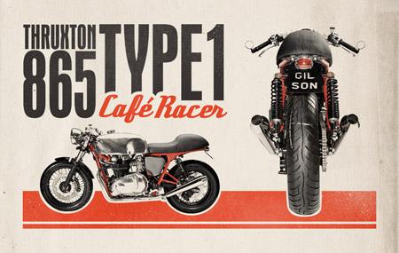Ретро Кафе Racer дизайн рекламы