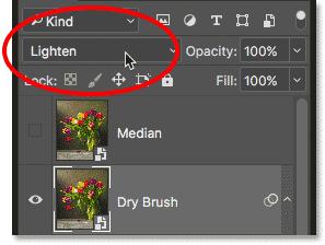 Изменение режима наложения с экрана на светлый