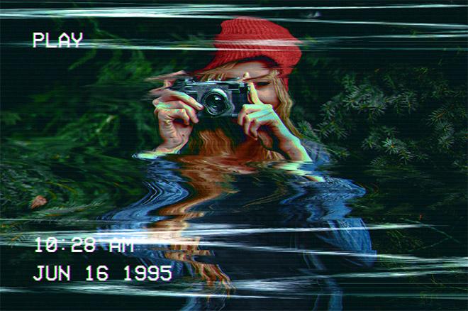 Как создать искаженный эффект VHS в Photoshop