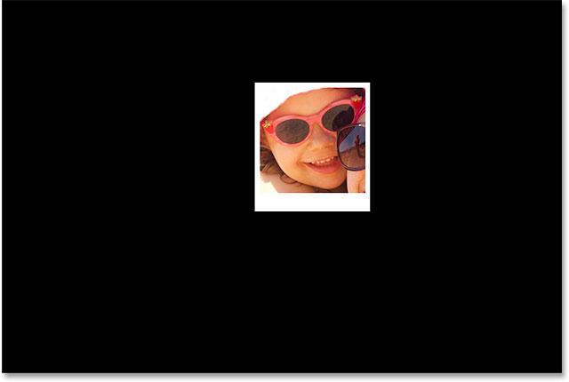 Изображение после добавления сплошного цвета заливки слоя в качестве нового фона.