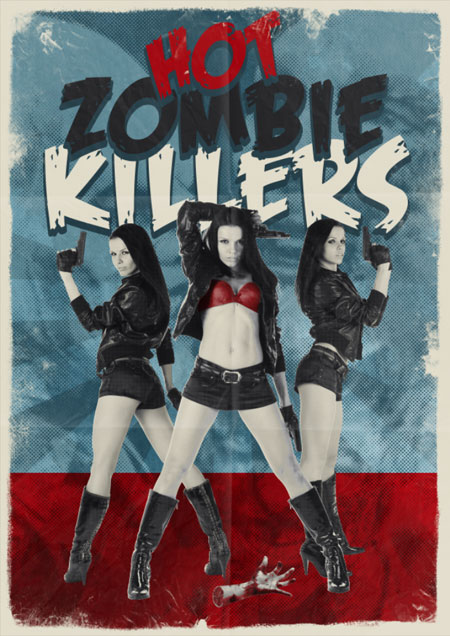 Hot Zombie Killers Винтажный постер фильма