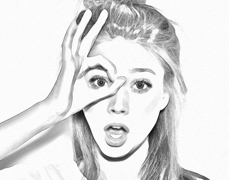 Как создать реалистичный эффект карандаша в Photoshop