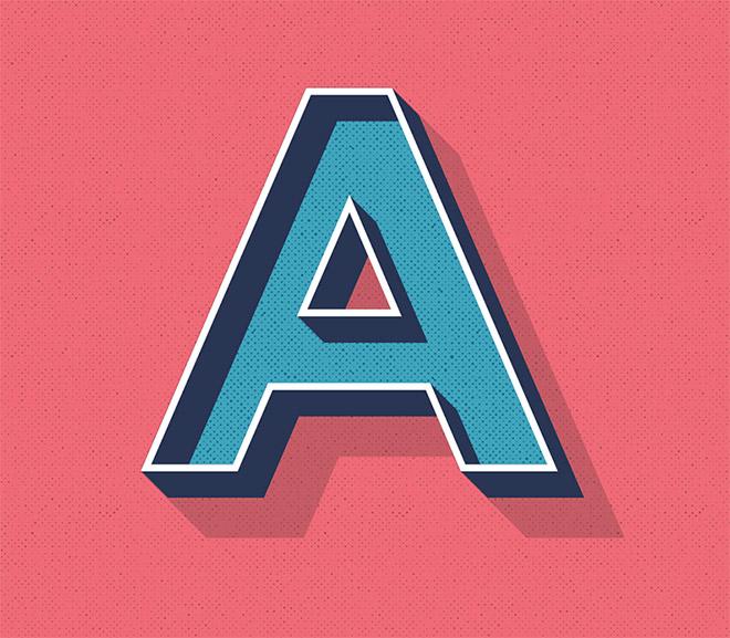 Редактируемый стиль ретро текста в Illustrator