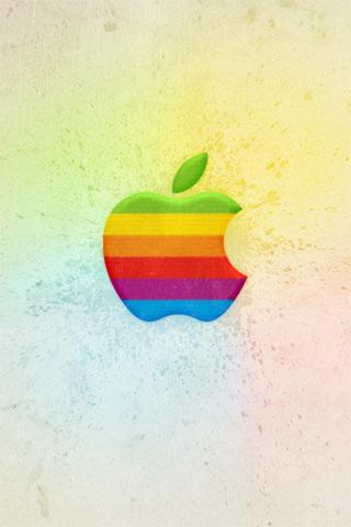 Скачать обои Ретро Аппли для iPhone