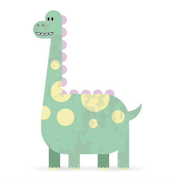 Как создать симпатичного персонажа динозавра в Adobe Illustrator