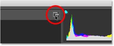 Переключение фильтра Camera Raw в полноэкранный режим в Photoshop