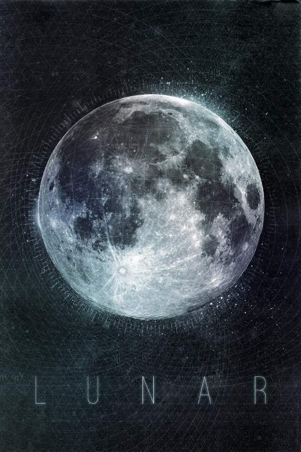 Лунный дизайн плаката