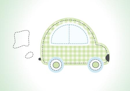 Простая векторная иллюстрация автомобиля