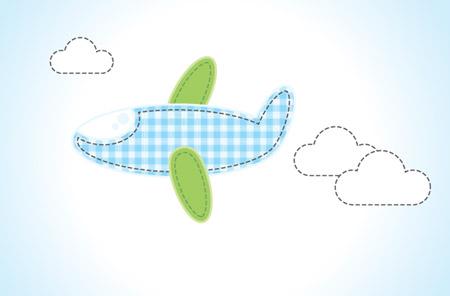 Простая векторная иллюстрация самолета