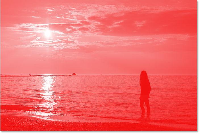 Изображение после изменения черного в градиенте на красный.