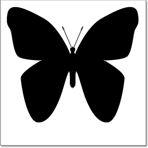 Бабочка нестандартной формы, нарисованная в Photoshop.