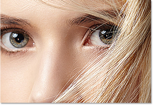 Увеличенное изображение в Photoshop с использованием Preserve Details