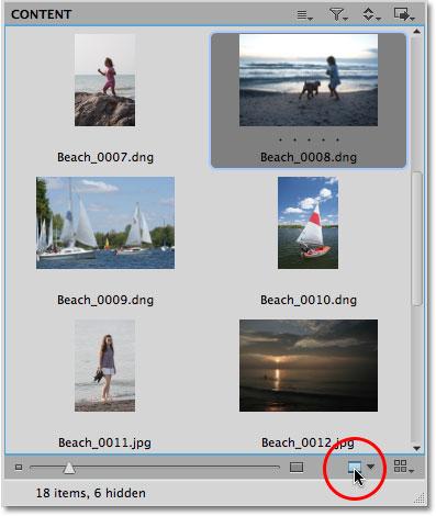 Значок предварительного просмотра в Mini Bridge в Photoshop CS5.