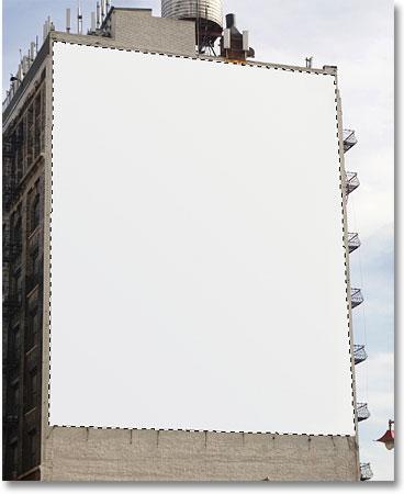 Рекламный щит теперь выбран благодаря инструменту Polygonal Lasso.