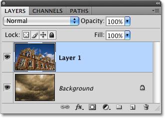 Панель «Слои» в Photoshop.
