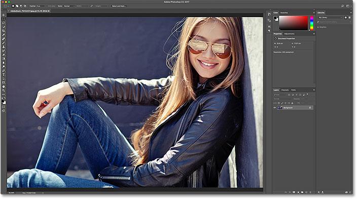 Выбор другого изображения.  Image © 2016 Стив Паттерсон, Photoshop Essentials.com