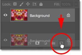 Перетащите фоновый слой на значок нового слоя.
