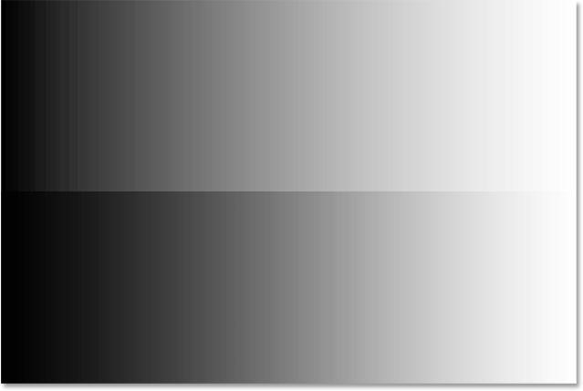 Перед и после сравнения полутонов после перетаскивания ползунка влево.