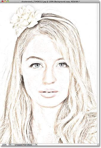 Фотошоп фото, чтобы цветной карандашный рисунок эффект.  Image © 2011 Photoshop Essentials.com.