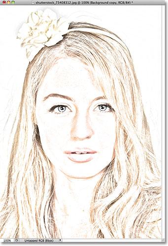 Фотошоп фото для цветного эскиза эффекта.  Image © 2011 Photoshop Essentials.com.