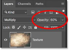 Как снизить интенсивность режима наложения слоев в Photoshop CC 2019